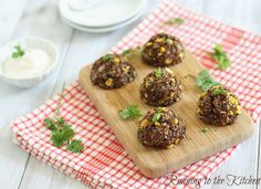 Cheddar Quinoa Bites from Running to the Kitchen.