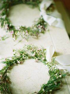 Flower Girl Wreaths #pale #pastel #emerald #mint #green #beach #wedding ... #Budget wedding #ideas for brides, grooms, parents & planners ... https://itunes.apple.com/us/app/the-gold-wedding-planner/id498112599?ls=1=8 … plus how to organise a great wedding, with the money you have. ♥ The Gold Wedding Planner iPhone #App ♥