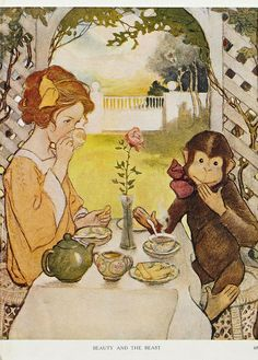 """Jessie Willcox Smith, from """"The Now-A-Days Fairy Book"""" (1922)"""