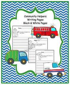 Community Helperss Writing Pages from Preschool Printables on TeachersNotebook.com -  (9 pages)  - Community Helper's Writing Pages