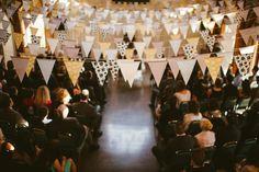 flag, hipster wedding decor