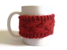 id be psyched if my husband got me this for V-day. coffee cozy