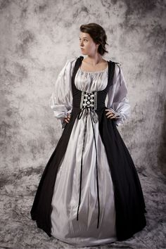 Bodice Dress Gown Renaissance Medieval Costume Wedding Wench