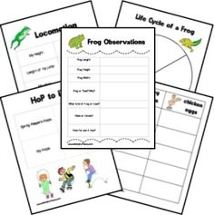 frog and toad nature study printables