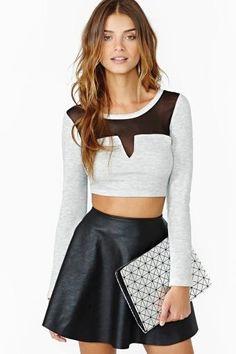 #Crop top #skirt