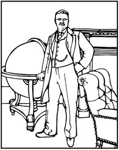 C3 W15 Theodore Roosevelt Coloring Page