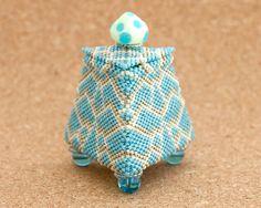 Triangle Small Beaded Jewelry Box by DedanyaDesign, $85.00