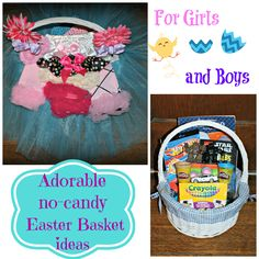 Cute no-candy Easter basket ideas for girls and boys