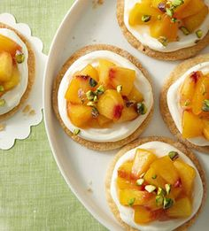 Easy Peach Tartlets, great for summertime!