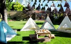 For younger kids who may not be brave enough just yet, or parents who can't bear to part with their kiddies for weeks, there's always the option of turning your yard into a campground retreat.