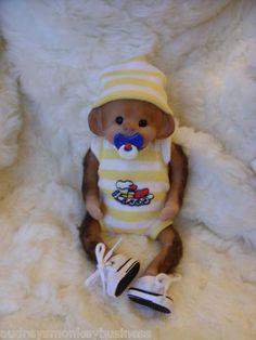 "OOAK Polymer Clay Baby Monkey...Orangutan....HARLEY.....6"".....-Sculpt #7"