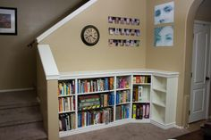 Made from IKEA Shelving and crown molding. Looks awesome!