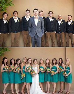 Look at this Adorkable wedding group! How sweet are they?