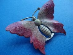vintage butterfly scarf ring