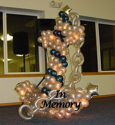 Balloon decor by it 39 z your party on pinterest balloon for Anchor balloon decoration