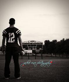 Senior pic!! Love the football field <3