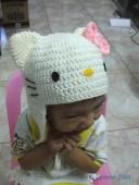gorro crochet hello kitty