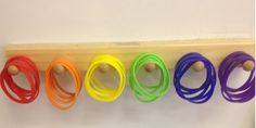 CREATE RANDOM GROUPS~  Put colored plastic bracelets into a paper bag and have kids select one.