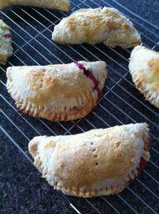 Recipes for strawberry rhubarb hand pie and coffeecake.