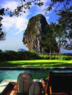 view from a room located at the Rayavadee Resort, Phranang Peninsula