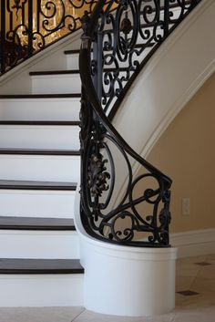 French design staircase & related ironwork (2010) - traditional - staircase - dallas