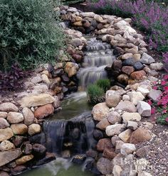 a Rock garden pond for beauty and listening pleasure.
