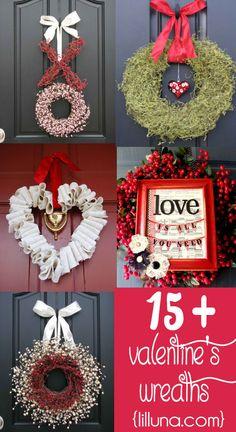 Beautiful DIY Valentine's Day Wreaths