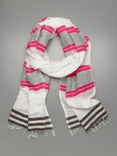 Love this striped summer scarf