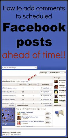 Blogging Tips: Add a Comment to Scheduled Posts on Facebook