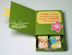 Julie's Stamping Spot -- Stampin' Up! Project Ideas : Box Card with Drawer Tutorial