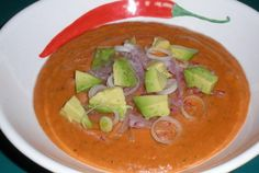 Raw Spicy Red Pepper Soup––for those days when only  a good bowl of soup can heal the soul.