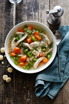 Chicken and Rice Soup #slowcooker #comfortfood #soup