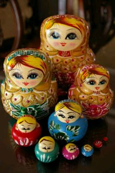 Russian Dolls for size sorting