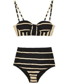 striped vintage suit - bone and rag