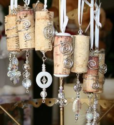 Wine cork ornaments