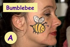 Super fast face paint designs bumble bee