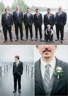 gray groomsman ideas http://www.weddingchicks.com/2013/10/16/rainy-day-wedding-2/