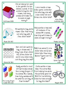 """Heres a set of """"Can I Buy It?"""" money word problems."""