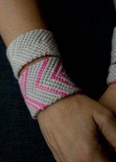 Friendship Bracelet-Style Cashmere Cuff from @Purl bee