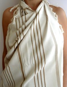 Turkish Bath Towel Peshtemal  Handwoven Natural by TheAnatolian, $28.00
