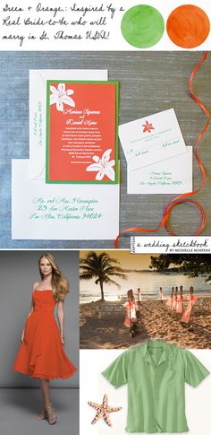 Inspired by a Real Bride - St. Thomas Wedding / Love the color scheme!