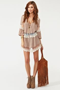 Boho Bag on a Nasty Gal outfit