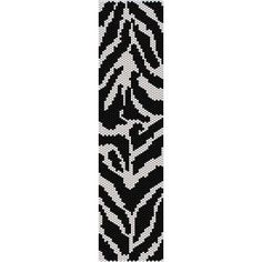 Zebra Print beading cuff bracelet pattern for peyote by garbanke, $4.00