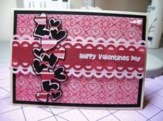 This lovely Valentine's Day card was made using the #Cricut machine! We love the colors and all of the hearts!