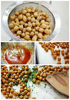 Crunchy and delicious, these Sriracha Lime Toasted Chickpeas are great to have set out for your NYE party! Other recipes include honey roasted chickpeas and rosemary sea salt. #nye #appetizers #chickpeasrecipes