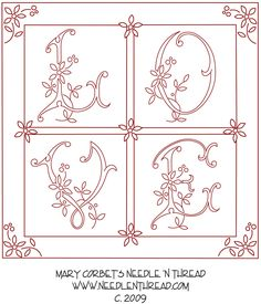 Free Hand Embroidery Design: Love In a Box
