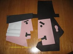 George Washington and Abraham Lincoln Craft -  Pinned by @PediaStaff – Please Visit http://ht.ly/63sNt for all our pediatric therapy pins