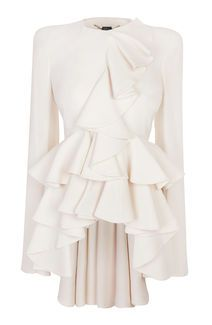 Alexander McQueen Ivory Wave Ruffle Jacket - adore for $3,975