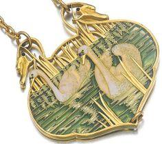 Lalique @ 1900 Swans Pendant