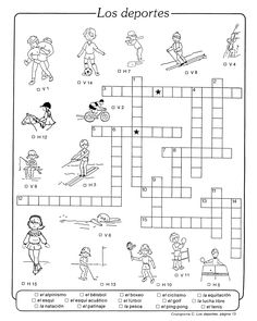 Los deportes crossword pictures